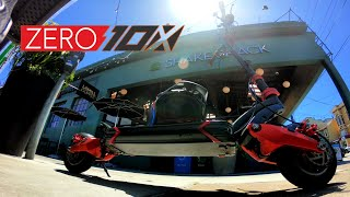 Lets Do Lunch! Zero 10x Electric Scooter Ride at Lunch Time in San Francisco | Gopro Hero 7 RAW FPV