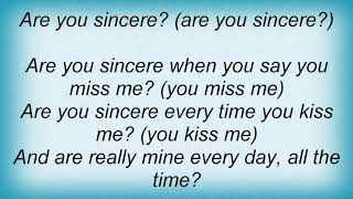 Andy Williams - Are You Sincere Lyrics