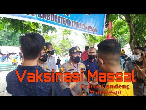 Gandeng Wartawan, Polres Kepulauan Meranti Kembali Gelar Vaksinasi Massal di Taman Cikpuan Selatpanjang
