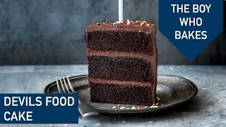 Devils Food Cake Recipe / How To Make An Easy Chocolate Cake - The Boy Who Bakes