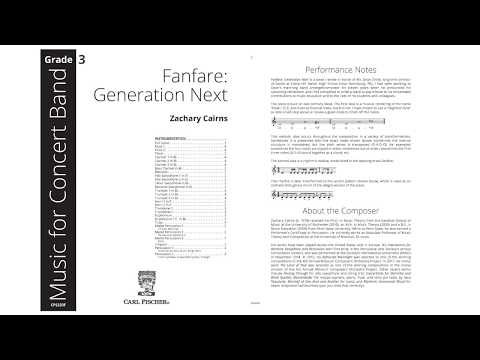 Fanfare: Generation Next (CPS233) by Zachary Cairns