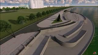 Проект набережной реки Амур в Благовещенске