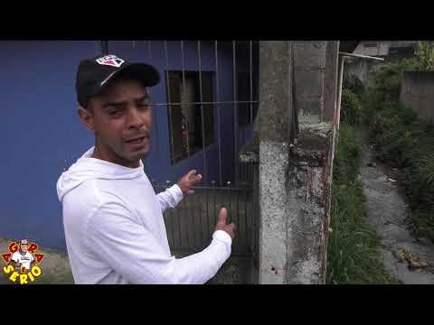 Alex Telles e outros moradores convivem com o Esgoto a Céu aberto em São Lourenço da Serra