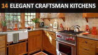 13 Elegant Craftsman Kitchens With Natural Wood Design Ideas - DecoNatic
