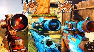 The Evolution Of ALL BLACK OPS Sniping  BO1 BO2 & BO3