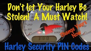 Set -Change- Override-Transport-Harley Security Alarm PIN Code No Key Fob |  Motorcycle  Podcast