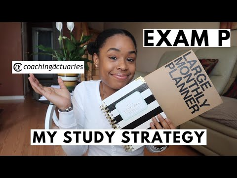 HOW I PLAN TO PASS EXAM P IN UNDER 8 WEEKS | my study ...