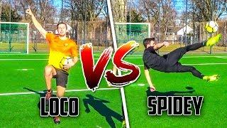 LOCO VS SPIDEY: 1 GEGEN 1 FUßBALL CHALLENGE (REMATCH) | LOCOFLOKI