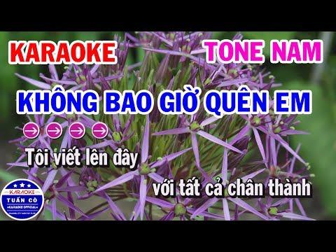 Karaoke Không Bao Giờ Quên Em   Nhạc Sống Beat Nam Tuấn Cò