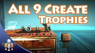 LittleBigPlanet 3 - All 9 Create Trophies - I Am Invincible, Cartographer, They Can Swim & More