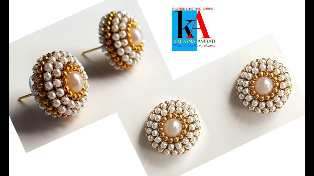 kalpana ambati. Making jhumkas and bangles in a new style.