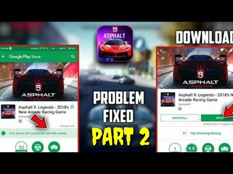 asphalt-9-legend-not-compatible-error-black-screen-error-all-error