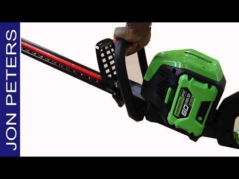 Greenworks Cordless Hedge Trimmer, Unbox, Use & Review
