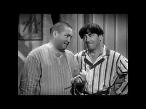 Curly of the Three Stooges Great 'Slapstick Scenes' with  Moe Howard the 'Head Stooge'