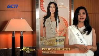 Prilie Syahadatina for Miss Indonesia 2015
