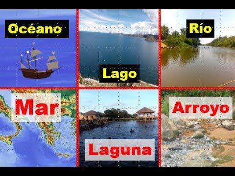 Diferencia entre oceanos mares lagos lagunas rios arroyos cascada catarata