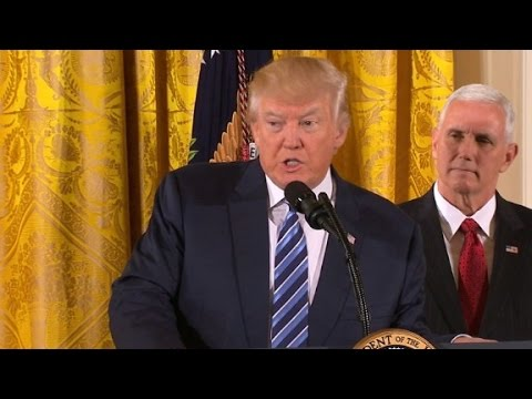 President Trump's senior staff sworn in