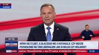 Duda mówi że starzy ludzie z zachodu uciekają do polski przed eutanazją….