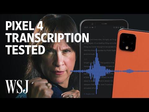 Pixel 4's Transcription App vs. World's Fastest-Talking Woman   WSJ