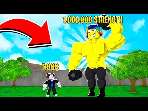 I BECAME THE STRONGEST WEIGHT LIFTER.. (Roblox)