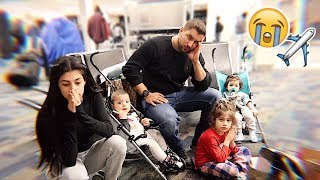 stuck at the airport with three kids on new year's...