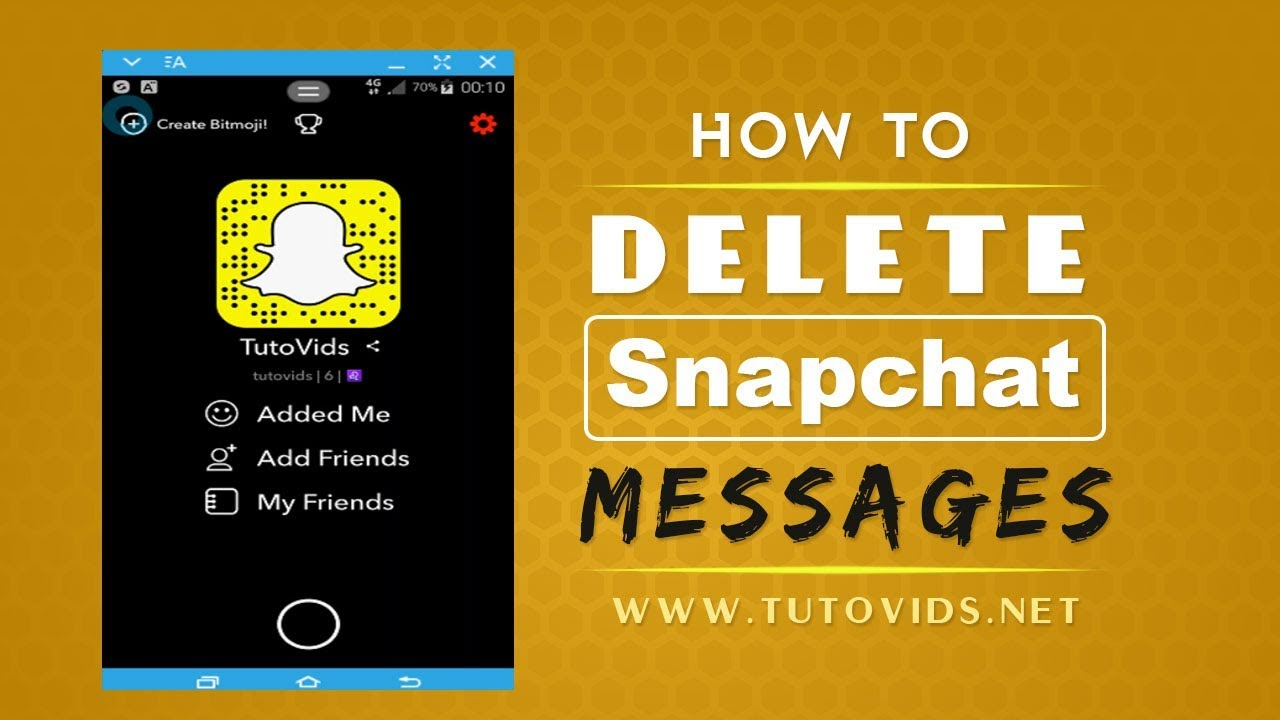 How to Delete Messages on Snapchat