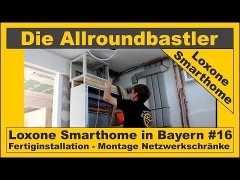 Loxone Smarthome - Fertiginstallation in Bayern #16 - Netzwerkschränke montieren