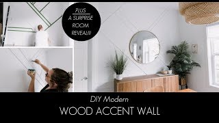 DIY Wood Accent Wall [And A SURPRISE REVEAL For The Homeowner!]