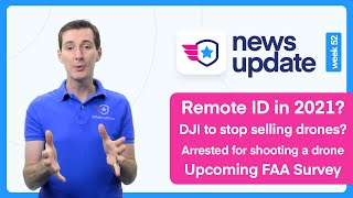 Drone News: Remote ID in 2021? DJI to stop selling drones? Arrested for shooting a drone and more