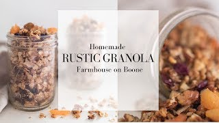 Rustic Granola | Homemade Granola Recipe With Honey | HOW TO MAKE GRANOLA FROM OATS