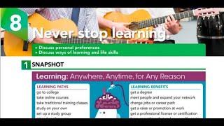 NEVER STOP LEARNING - INTERCHANGE 5TH EDITION BOOK 3 UNIT 8 AUDIO PROGRAM