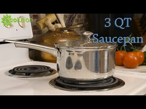 Ecolution 3 QT Stainless Steel Saucepan