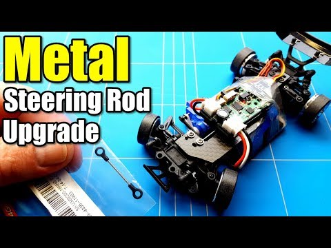 Wltoys K989 1/28 Rc Drift Project EP15 Metal Steering Rod Upgrade From Sinohobby Mini Q