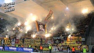 FC Erzgebirge Aue 1:3 SG Dynamo Dresden 01.04.2019 | Pyroshow & Support