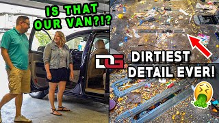 Deep Cleaning The NASTIEST Vehicle I've Ever Seen! | Insane 18 hour Detailing Transformation!