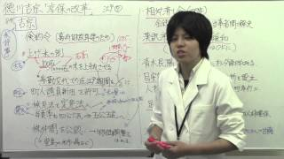 日本史江戸7徳川吉宗「享保の改革」