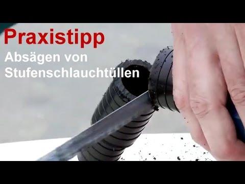 Gartenteich Praxistipp - Video: Stufenschlauchtülle absägen - Teichpumpenleistung optimal ausnutzen