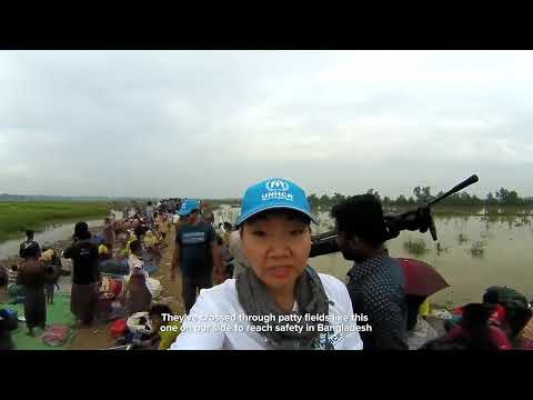 360 Video from the Border - Rohingya Refugees Fleeing to Bangladesh
