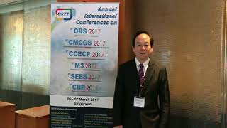 Prof. Meng-Hui Li at CCECP Conference 2017 by GSTF Singapore