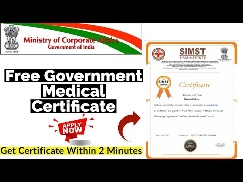 Free Government Medical Certificate | Free Certificate Course Online