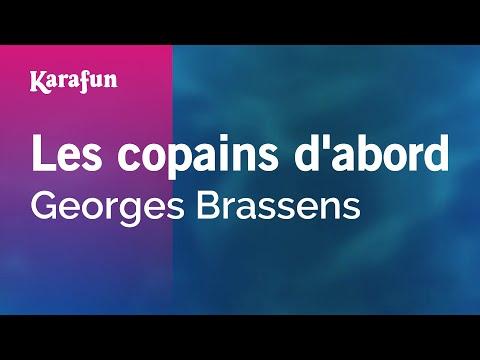 Karaoke Les copains d'abord - Georges Brassens *