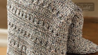 Easy Crochet Texture Throw Pattern