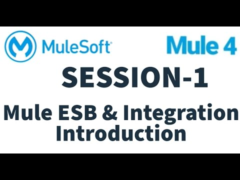 MuleSoft   Mule ESB 4   Session 1 - YouTube