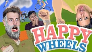 First Time Playing Happy Wheels (Funny Reactions)