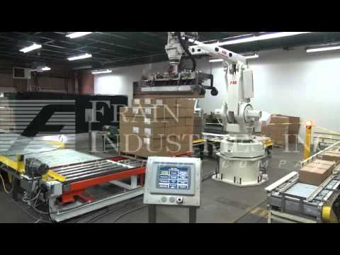 CASE PACKER MACHINES, EQUIPMENT Case packer sold by Frain Industries