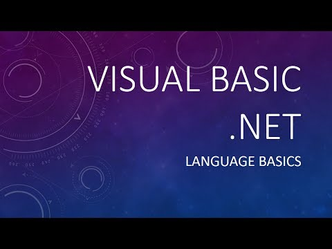 VB.NET Language Basics Tutorial in Filipino/Tagalog