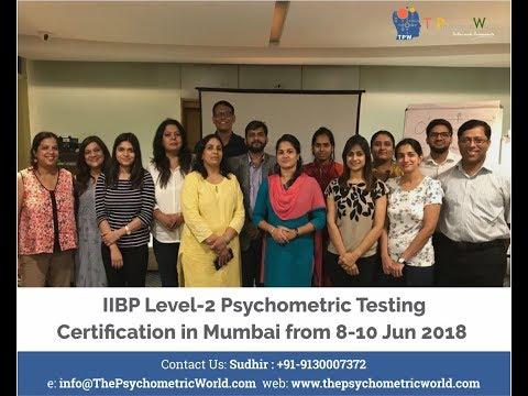 IIBP Level-2 Psychometric Certification Workshop in Mumbai ...
