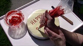 How To Write on Cakes. Tips and Tricks for Inscription pt2
