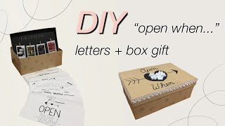 "DIY ""Open When..."" Letters + Box!"