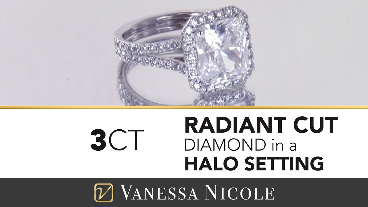 3ct Radiant Cut Diamond Ring